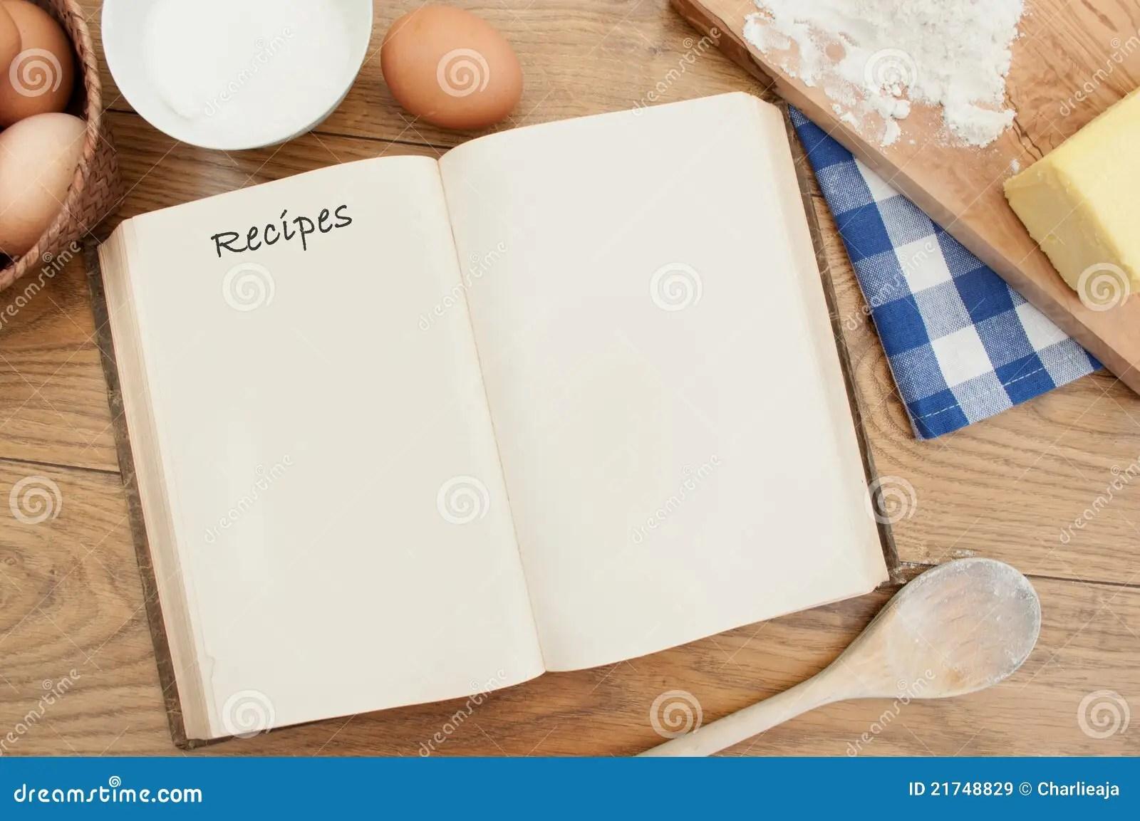 Livre De Recette Image Stock Image Du Page Prparation