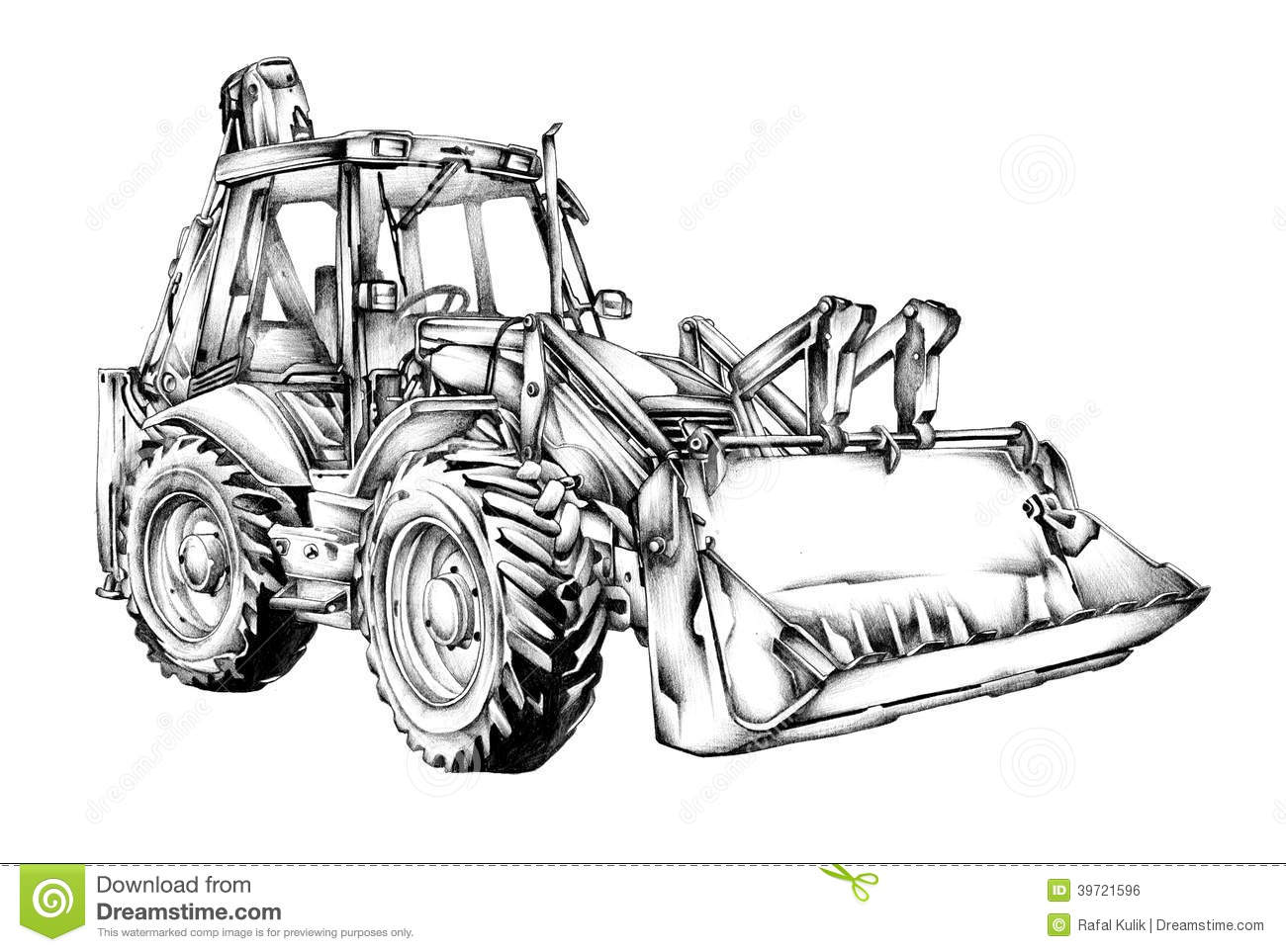 Loader Illustration Drawing Art Stock Illustration