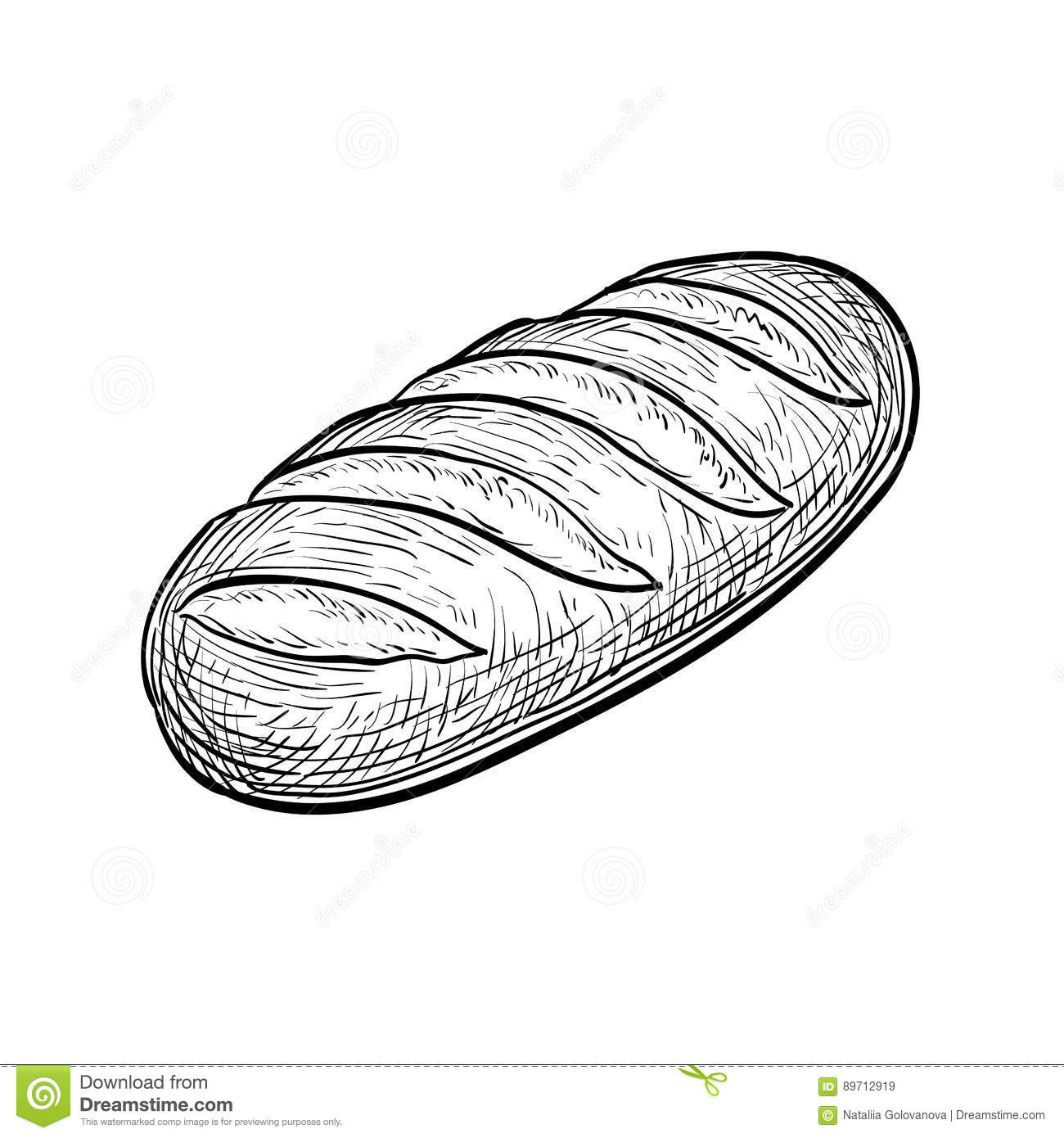 Loaf Of Bread Stock Vector Illustration Of Brown