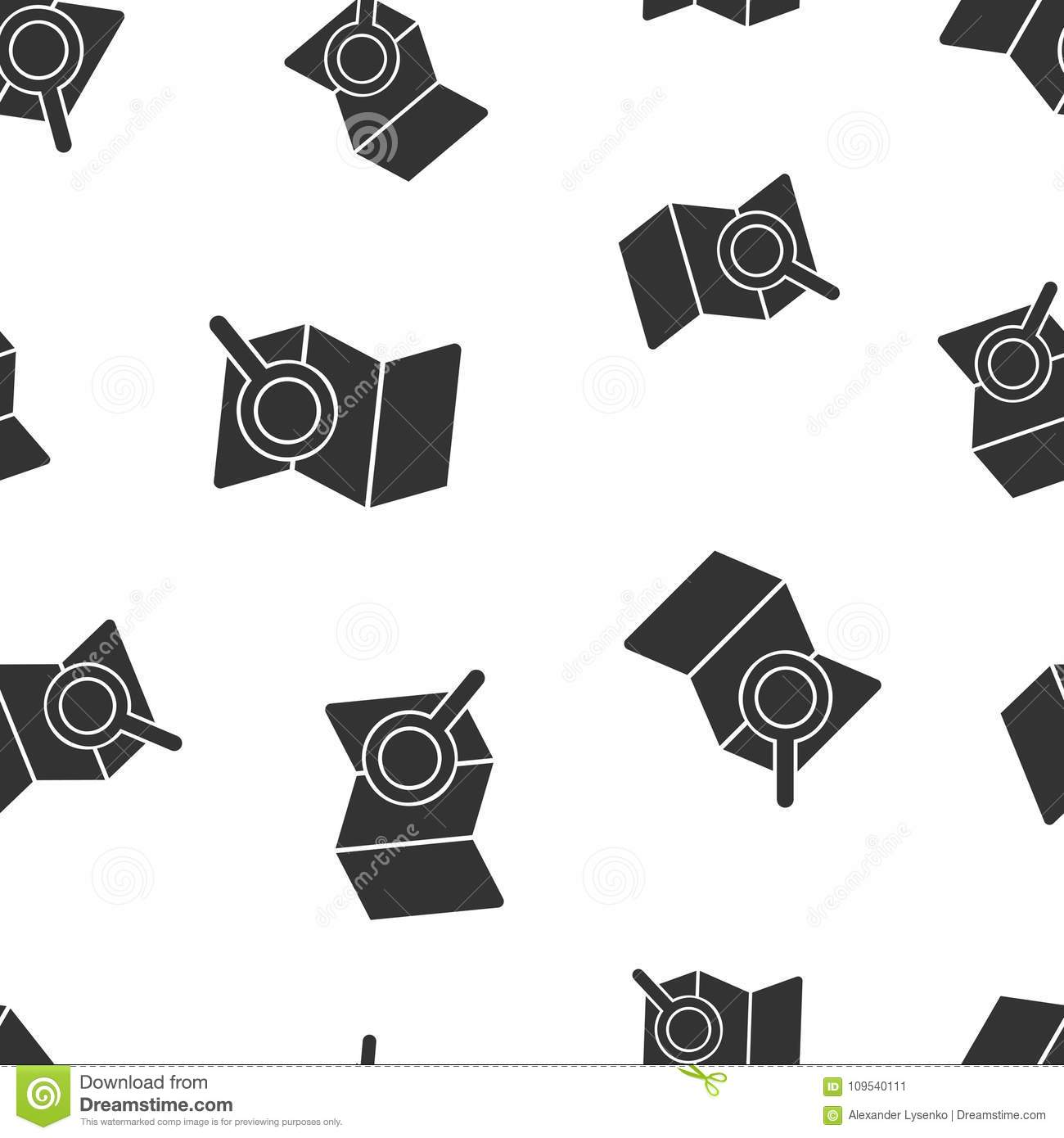 Location Pin Gps Seamless Pattern Business Concept Pin