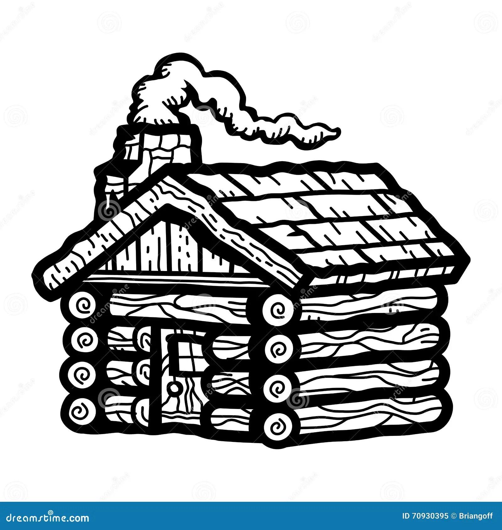 Log Cabin Wooden Cottage Stock Vector