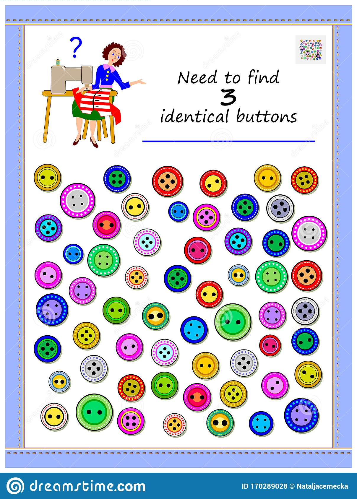 Logic Puzzle Game For Children And Adults Need To Find