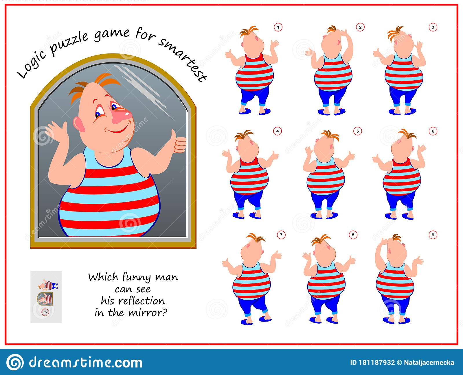 Logic Puzzle Game For Children And Adults Which Funny Man