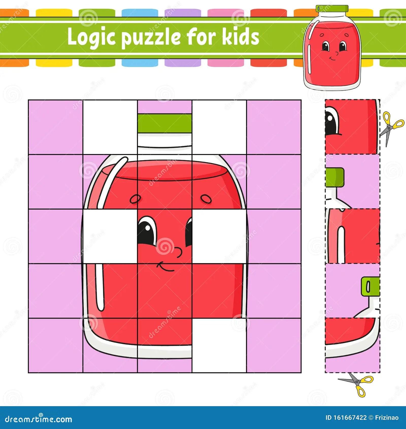 Logic Puzzle For Kids Education Developing Worksheet