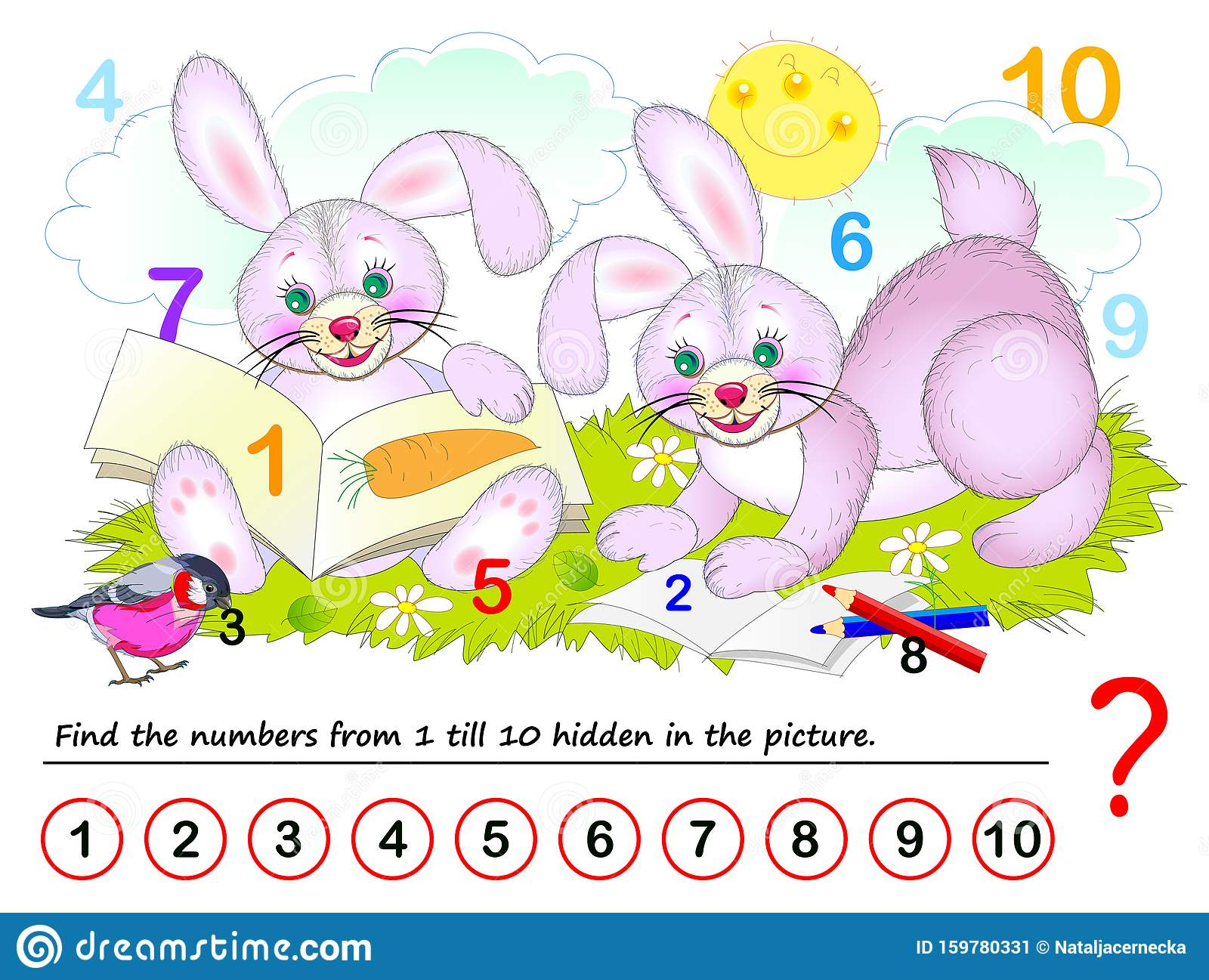 Find Hidden Numbers Stock Illustrations 55 Find Hidden