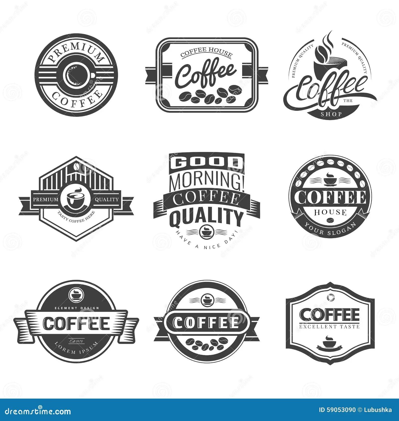 Logo De Vintage De Cafe Illustration De Vecteur