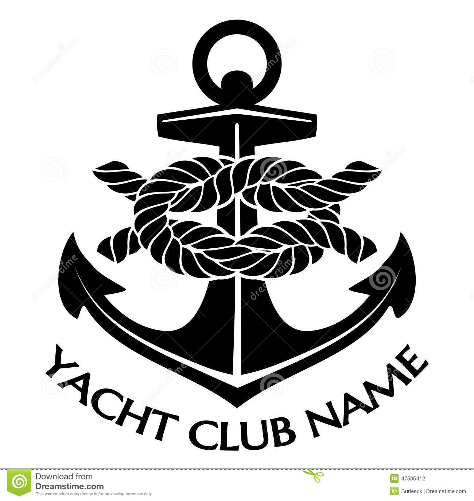 Logo Noir Et Blanc De Club De Yacht Illustration De