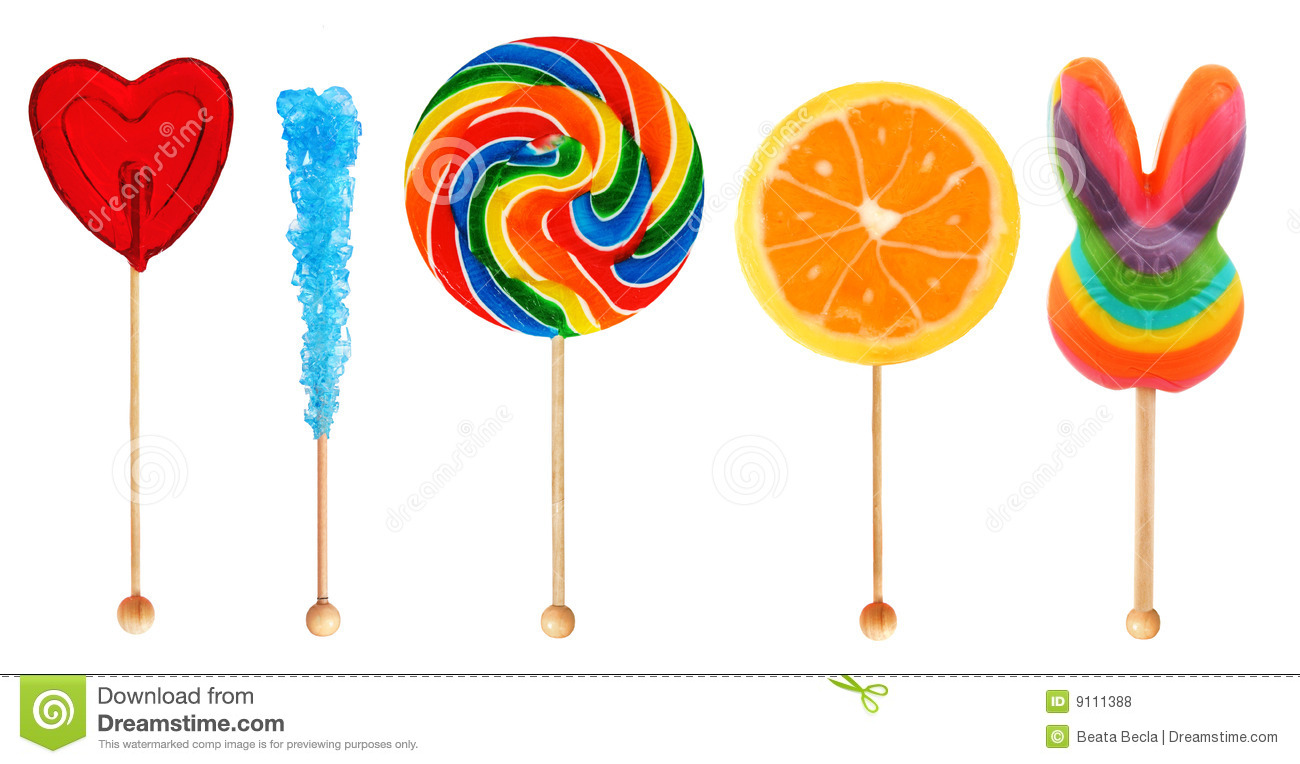 Lolipops Candy On A Stick Royalty Free Stock Photos