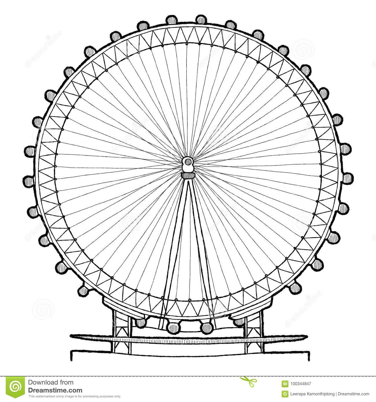 Sketch London Eye Coloring Pages