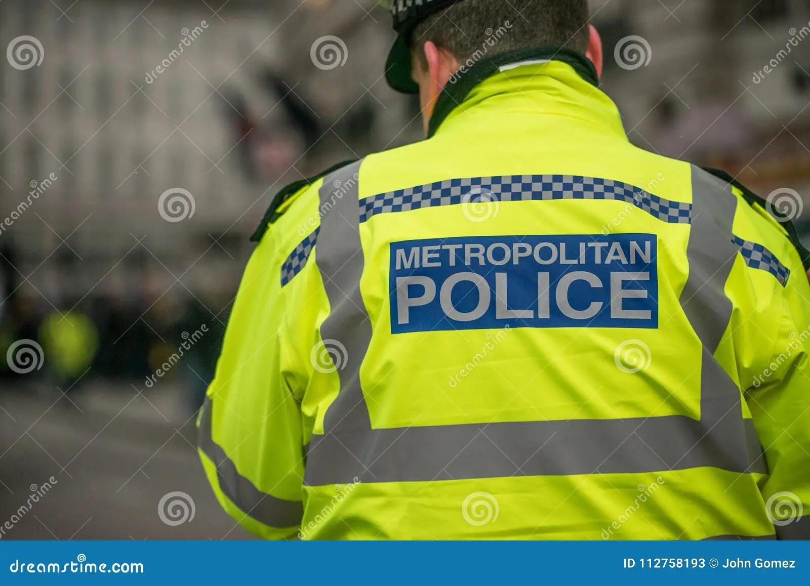 Close Up Of Metropolitan Police Sign