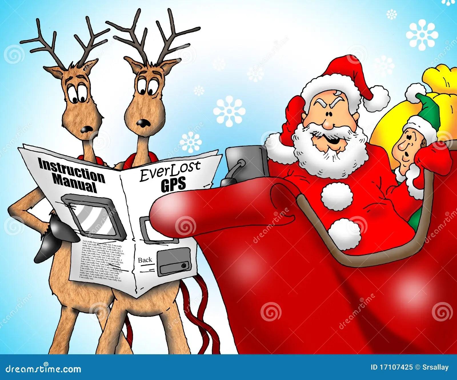 Lost Santa With GPS Royalty Free Stock Photo Image 17107425