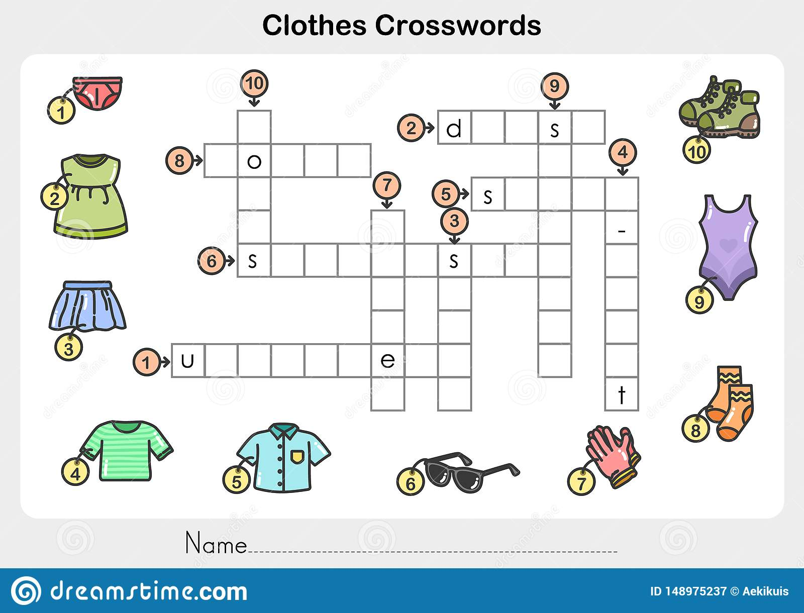 Clothes Crosswords