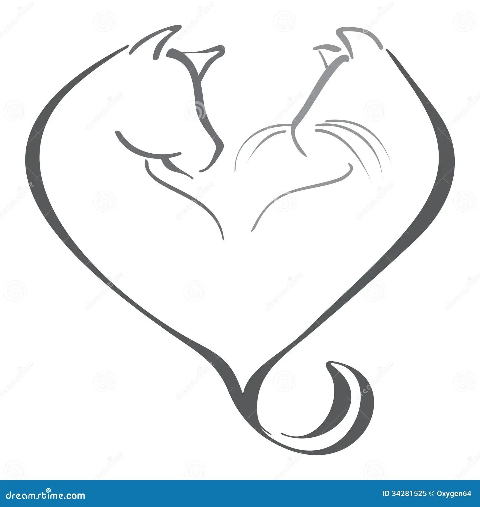 Love For Animals Stock Vector Illustration Of Loving