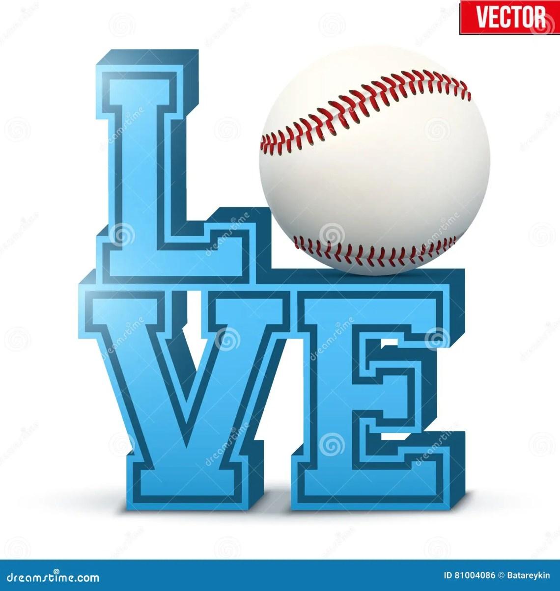 Download Love baseball inscription. stock vector. Illustration of ...