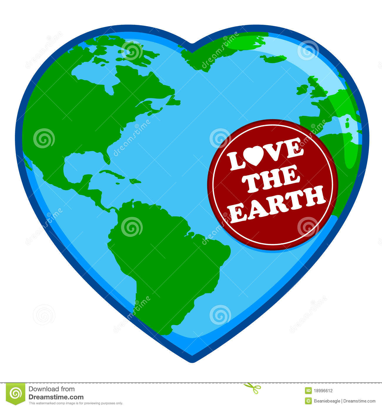 Love The Earth Stock Vector Illustration Of Love