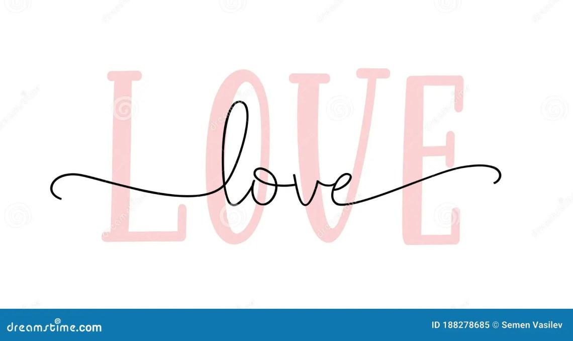 Download Love Hand Drawn Script. Modern Calligraphy Love Cursive ...