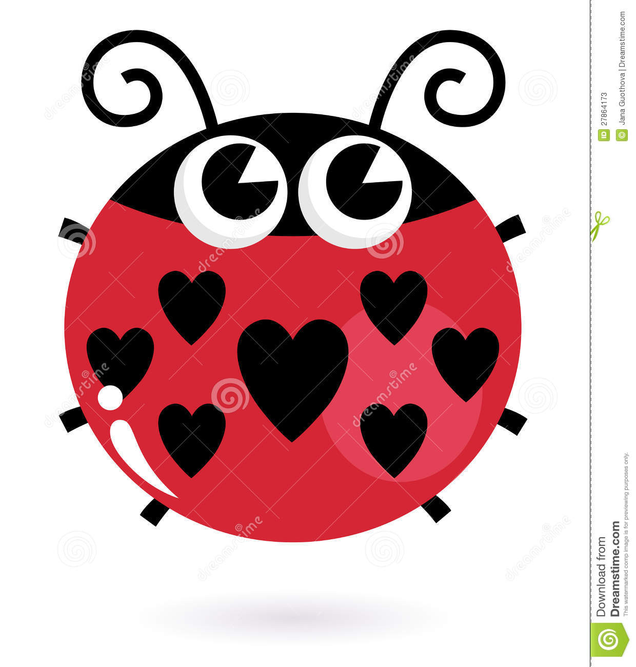 Love Ladybug With Hearts Stock Photos Image 27864173