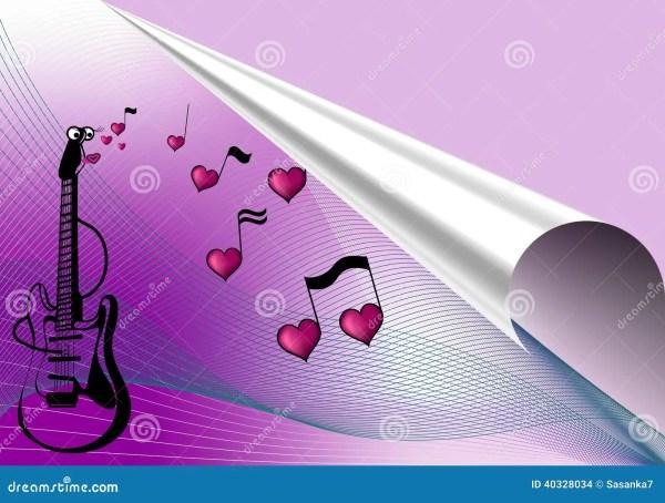 Love music background stock illustration. Illustration of ...