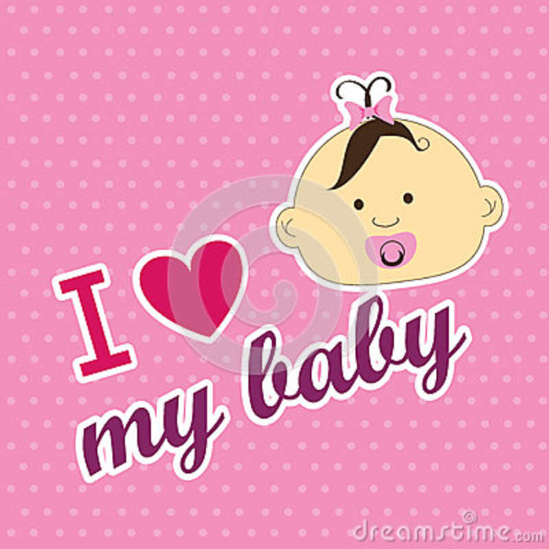 Download Love my baby stock vector. Illustration of decoration ...