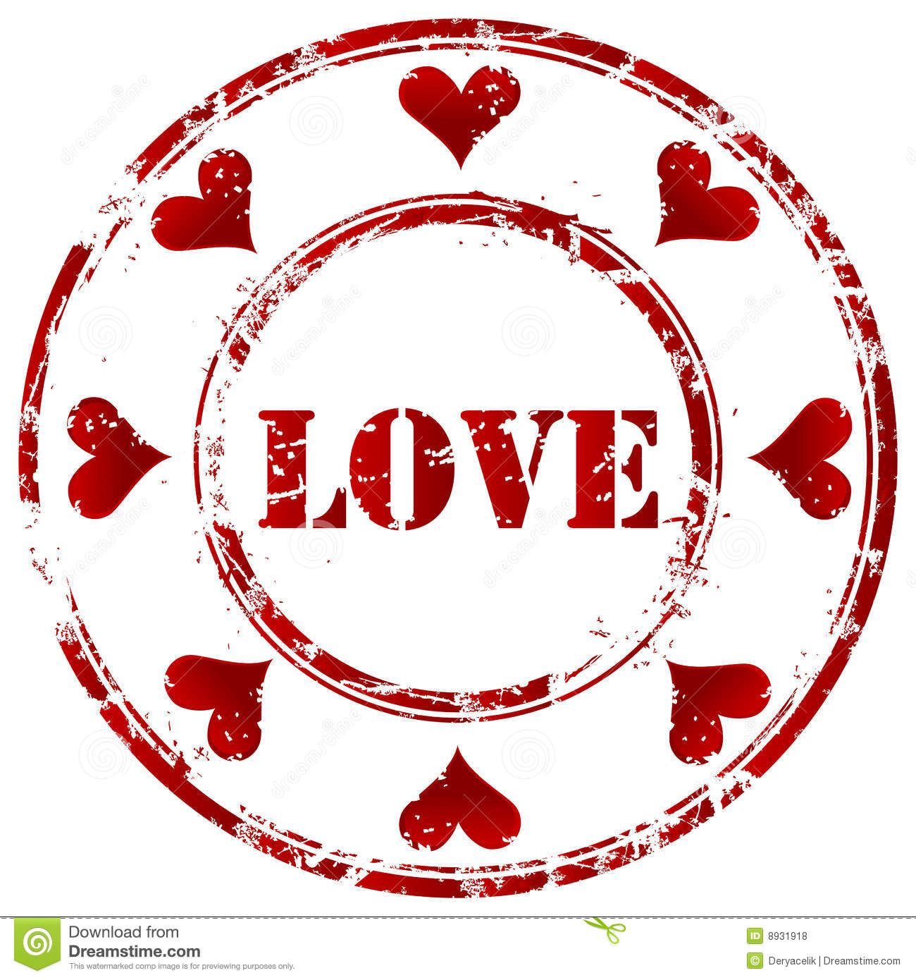 Love Stamp Stock Vector Image Of Advertising Female