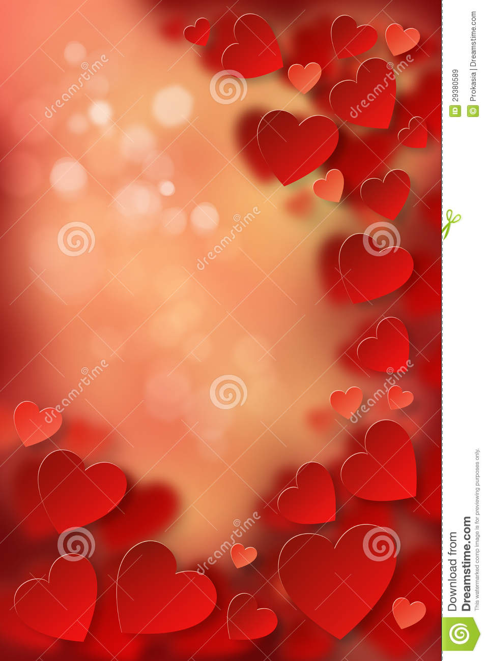 Love Theme Postcard Frame Royalty Free Stock Images