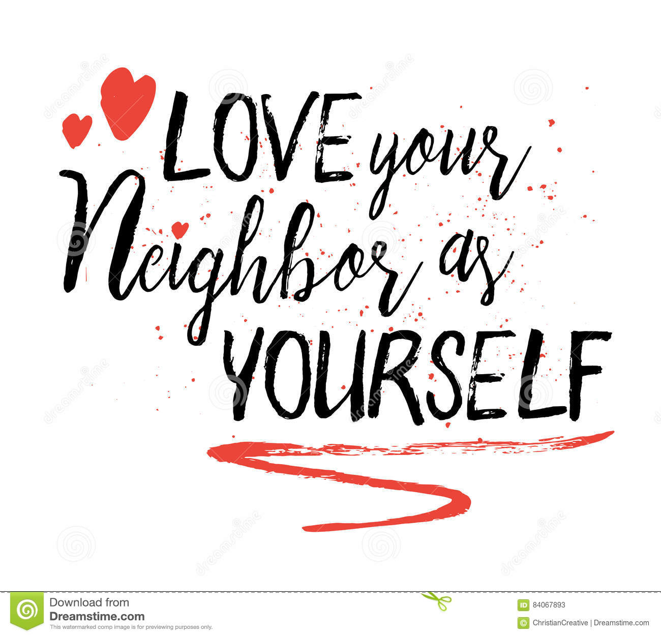 Love Your Neighbor As Yourself Stock Vector