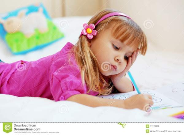 Lovely child painting stock photo. Image of facial ...