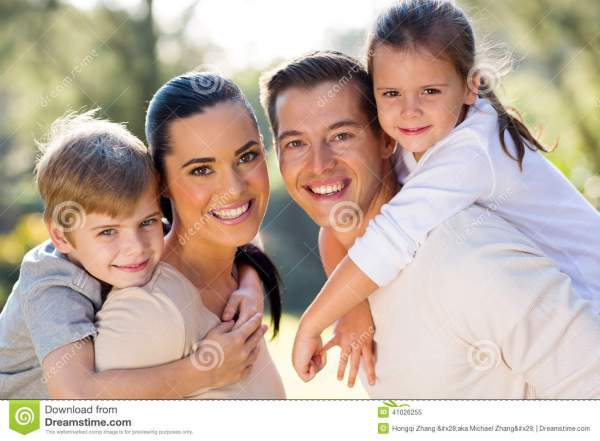 Lovely family outdoors stock image. Image of cute, mother ...