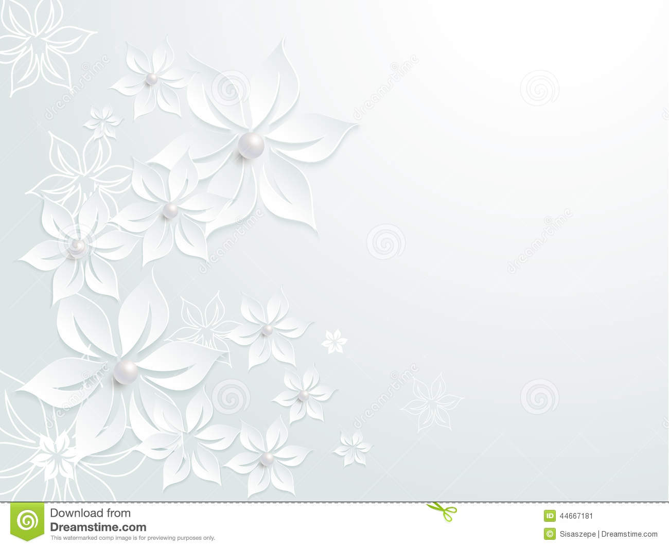 Lovely Wedding Paper Card Element Pattern Stock Vector