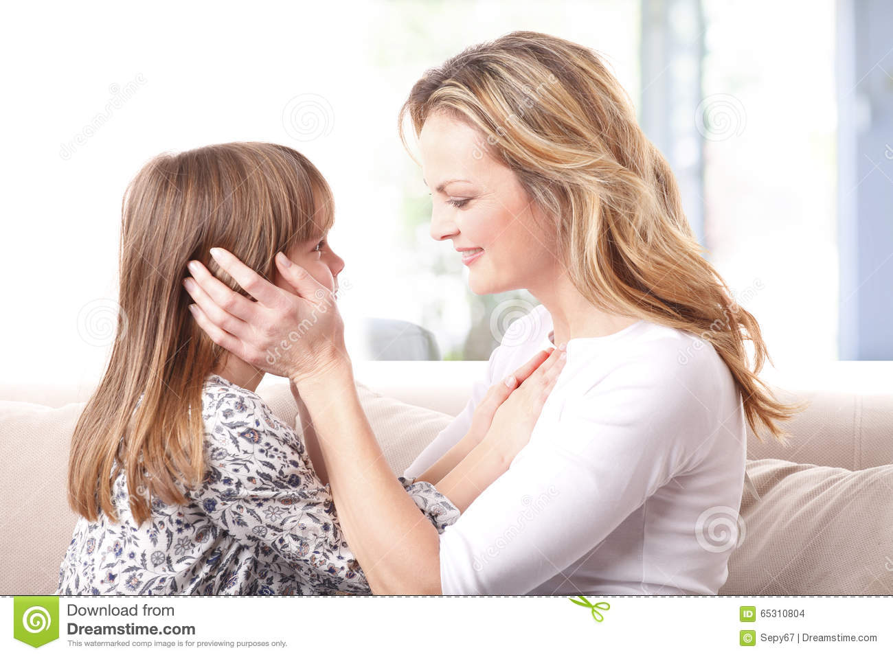 Loving Mother Daughter Relationship Stock Photo