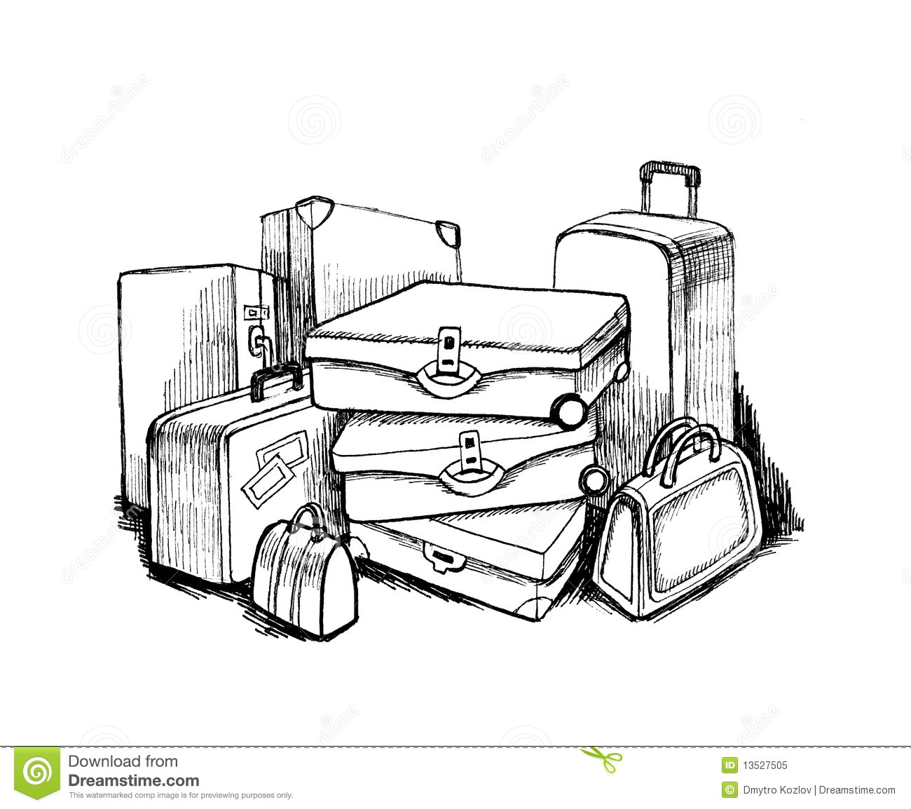 Luggage Stock Illustration Illustration Of Journey Handle