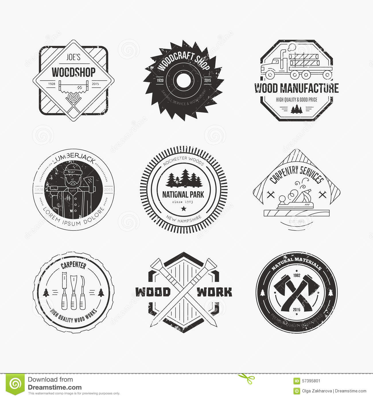 Lumberjack Logos Stock Vector Image Of Element Graphic