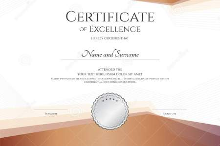 Luxury Certificate Template With Elegant Border Frame  Diploma D     Luxury certificate template with elegant border frame  Diploma design for  graduation or completion