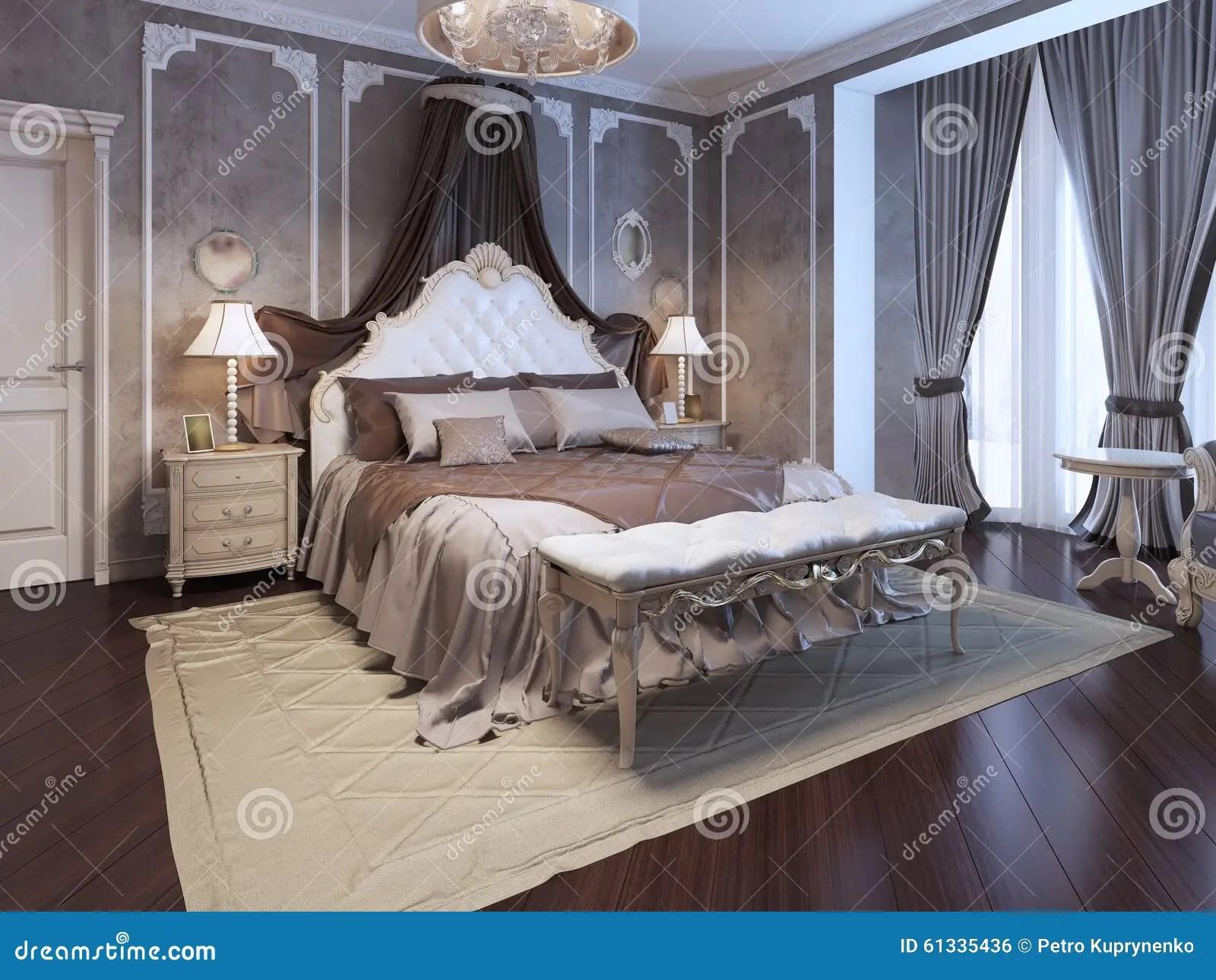 Luxury Interior Of Art Deco Bedroom Stock Illustration Image 61335436