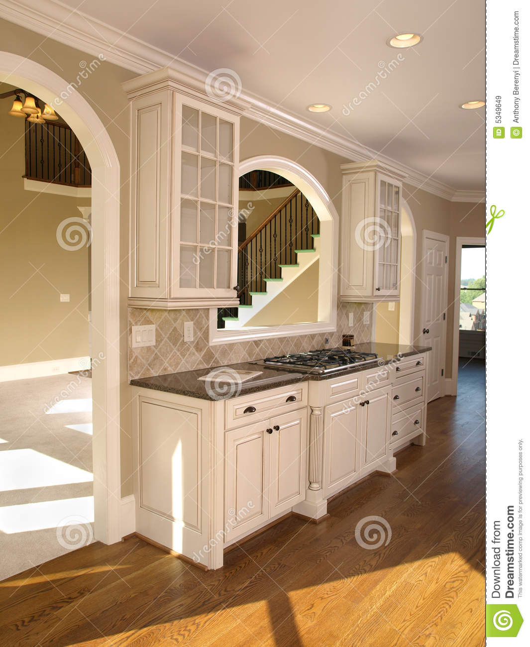 Luxury Model Home White Kitchen Royalty Free Stock Images ... on Model Kitchen  id=91017