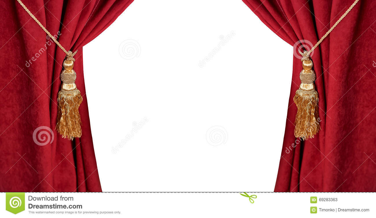luxury red curtain with a tassel and rope isolated on white stock image image of gold fashion 69283363