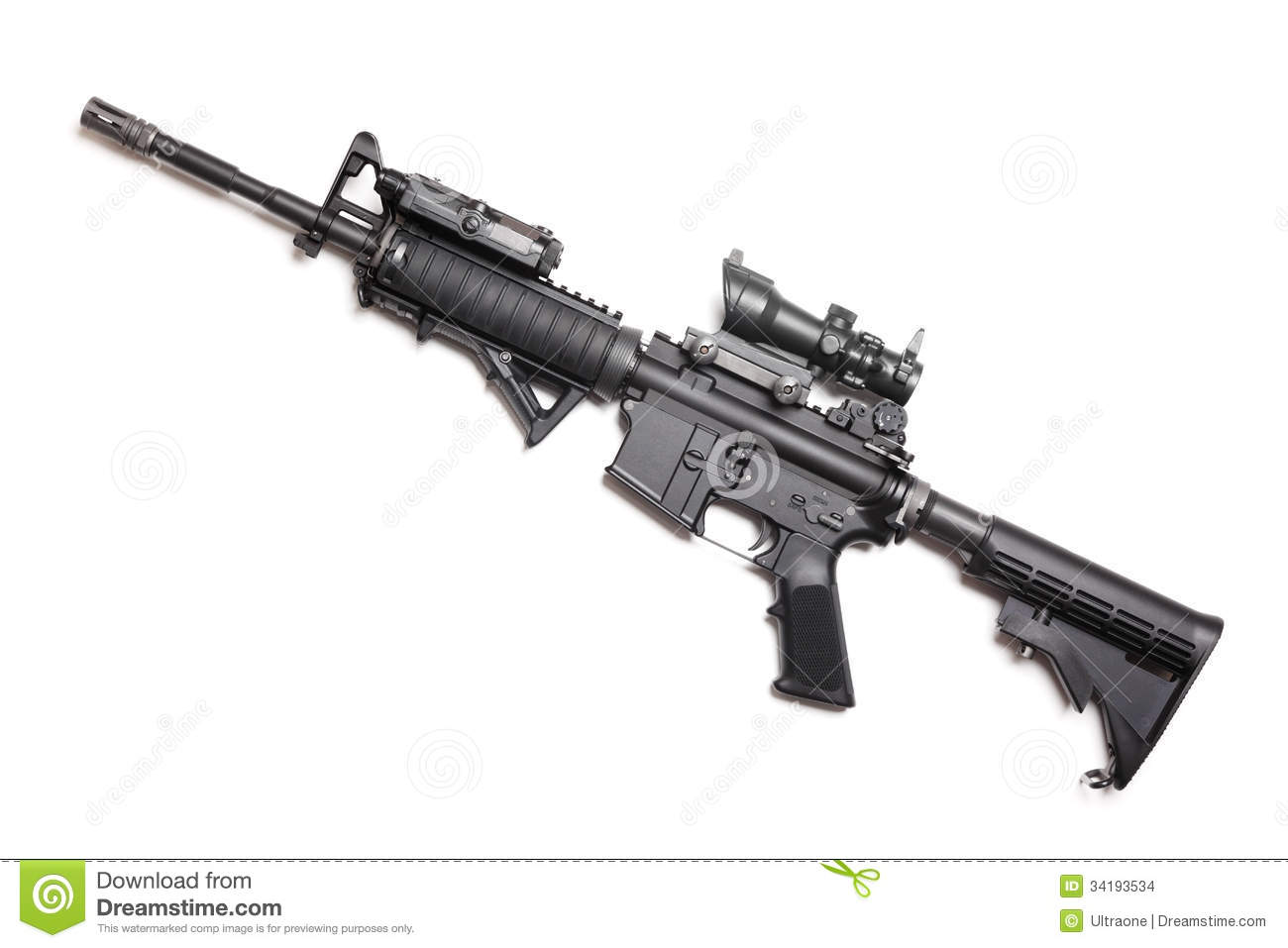 M4a1 Carbine Without Magazine Stock Images