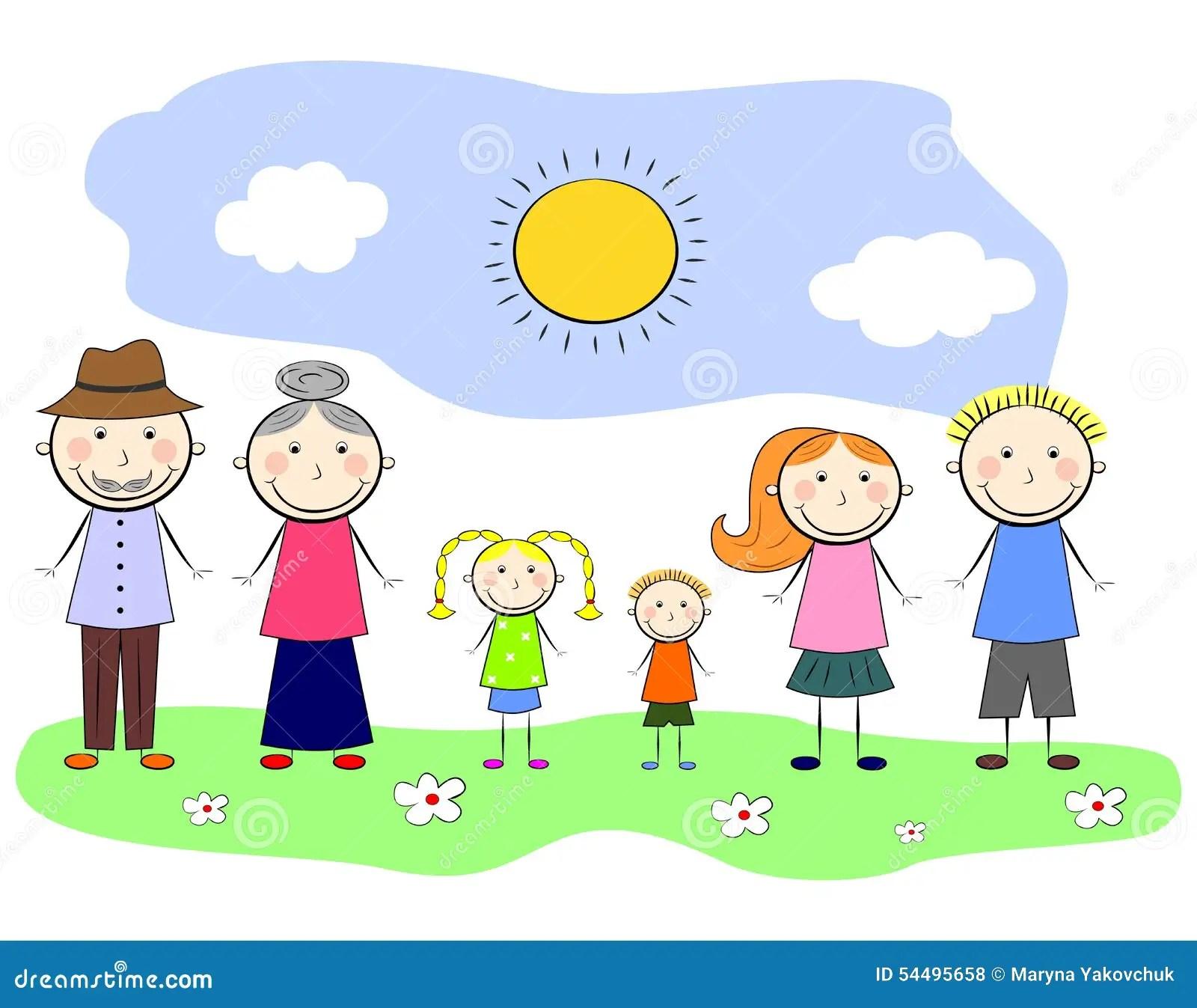 Ma Famille Illustration De Vecteur Illustration Du
