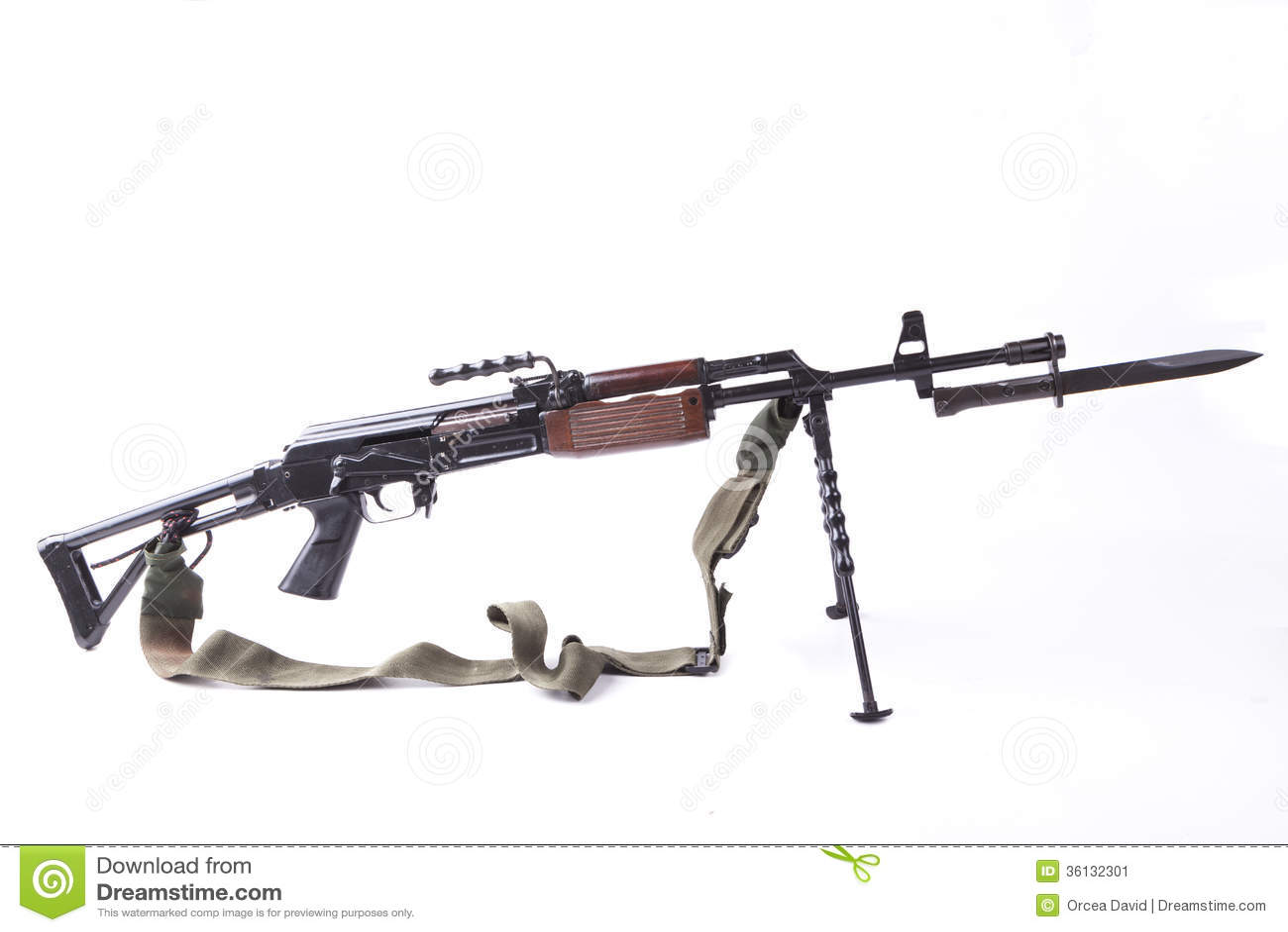 Machinegun With Bayonet Stock Image Image Of Safety