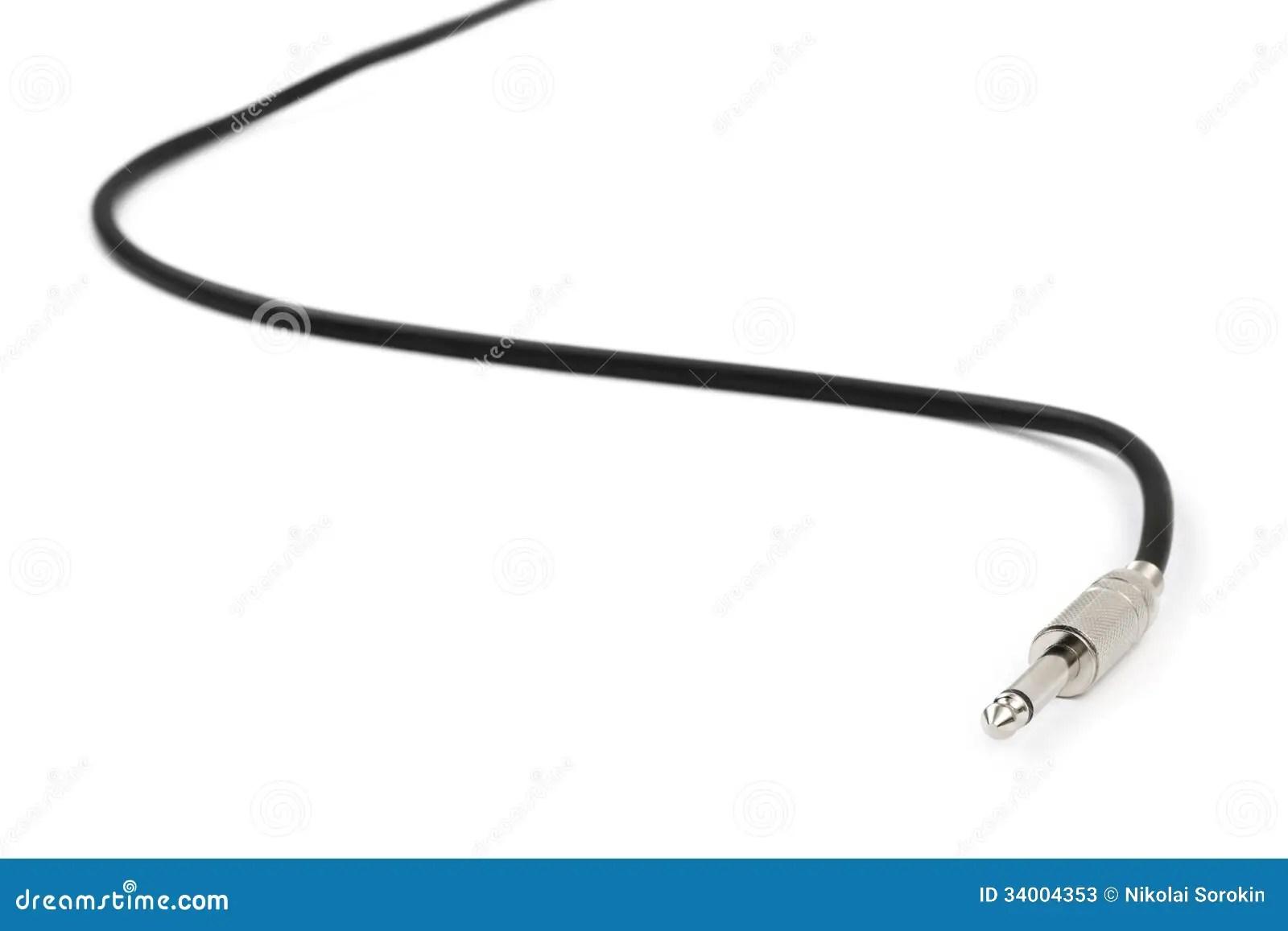 Macro Of Audio Cable Stock Photos