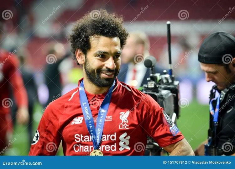 Mohamed Salah Celebrate Their Winning Of The UEFA ...