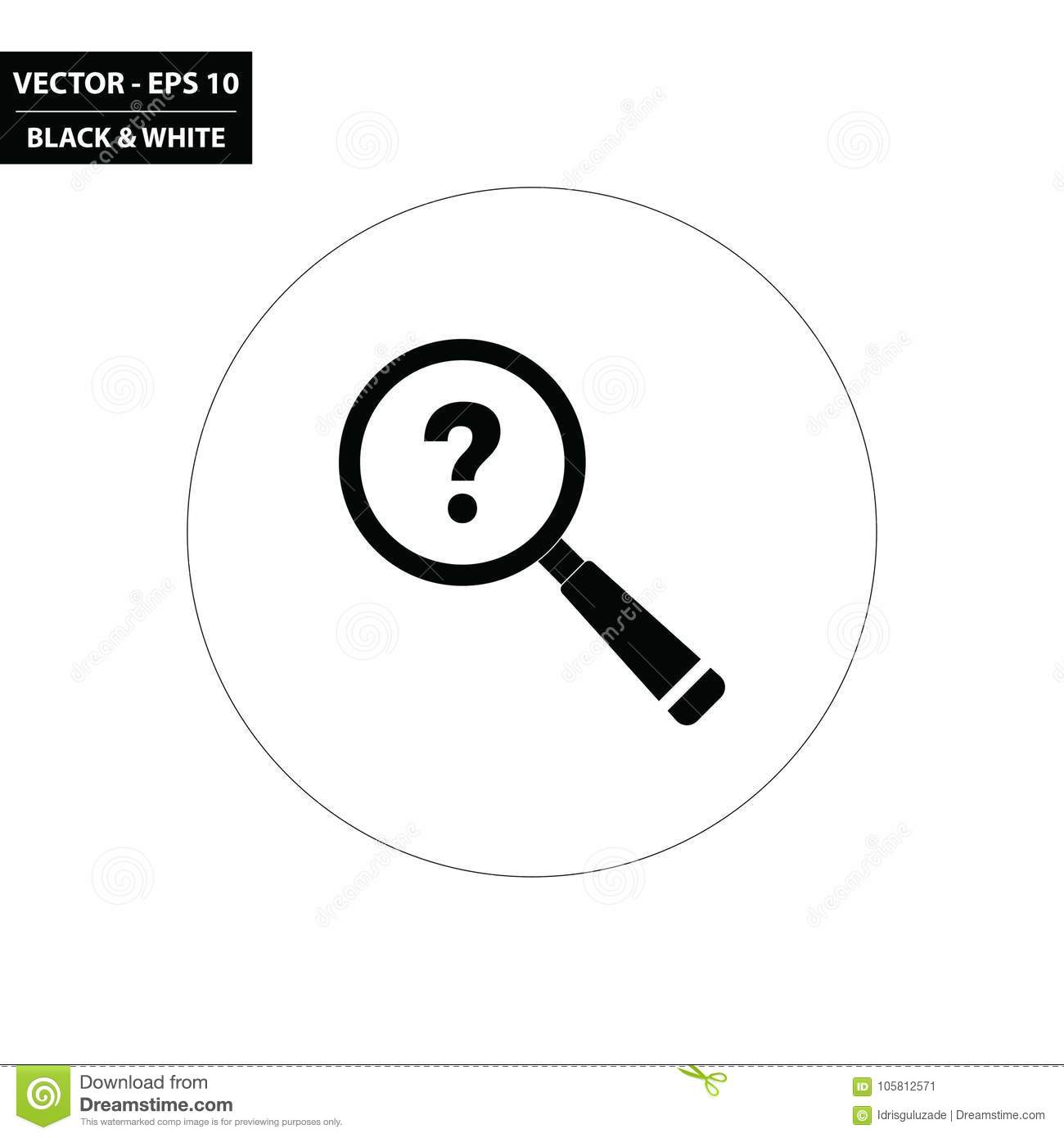 Magnifying Glass Question Mark Stock Illustrations 536