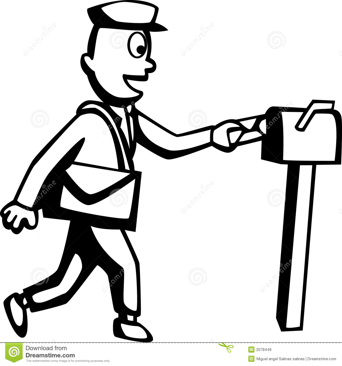 Mailman Stock Vector Image Of Address Human Message