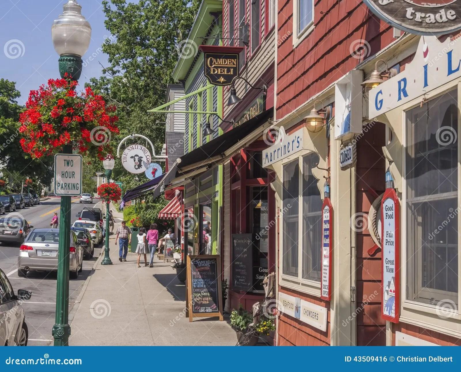 Main Street In Camden Maine USA Editorial Photo Image