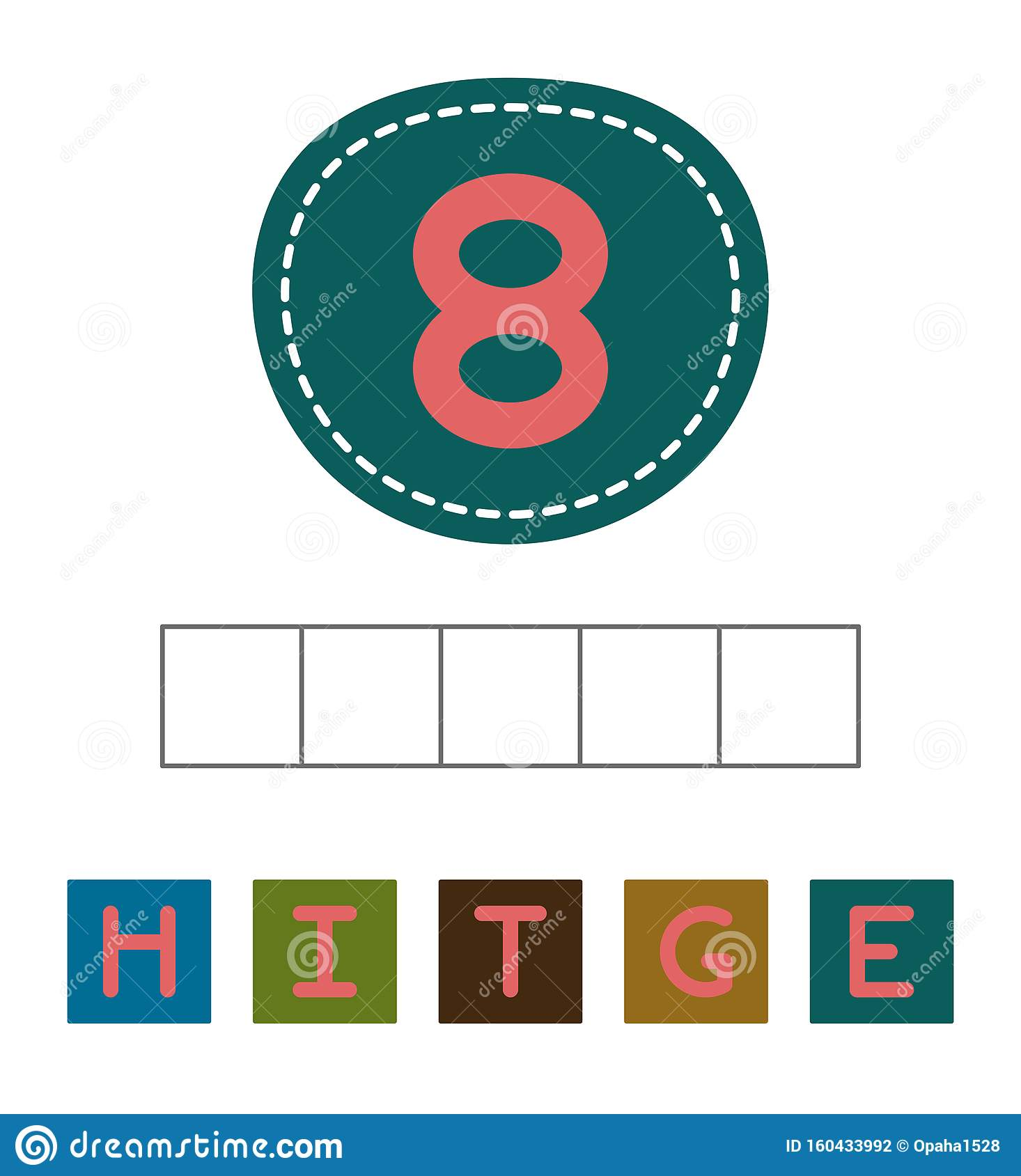 Make Eight Word Stock Vector Illustration Of Illustration