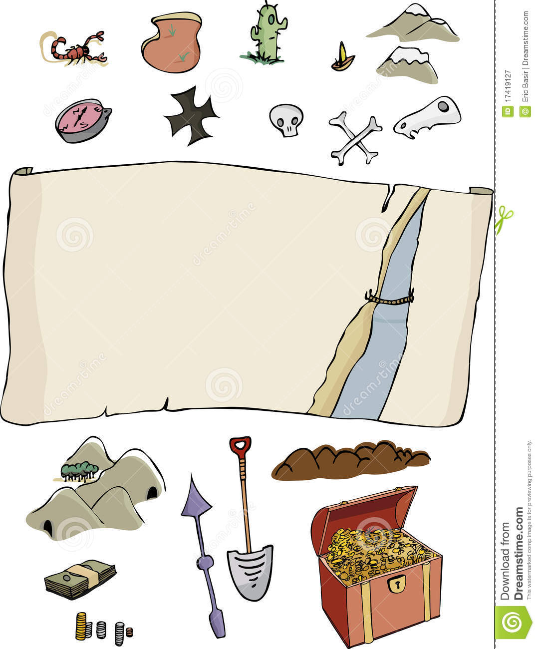 Make Your Own Treasure Map Stock Vector Illustration Of