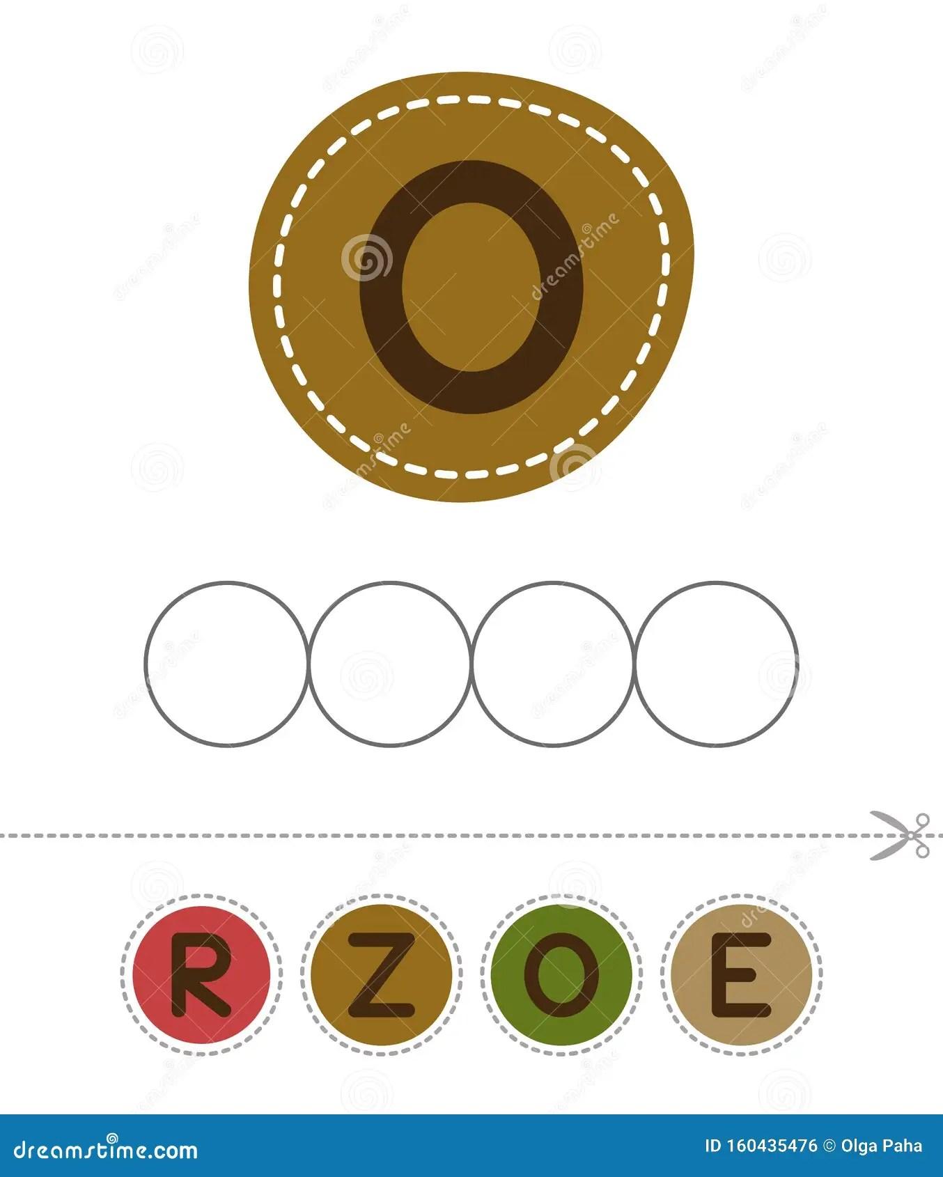 Make Zero Word Cut And Glue Stock Vector