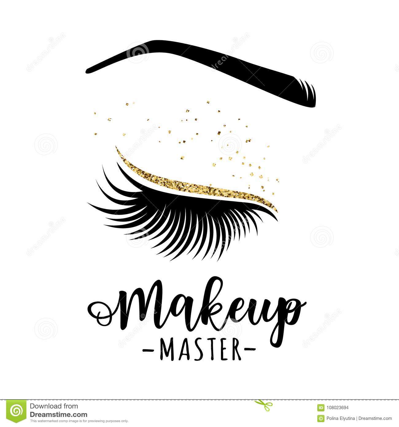 Makeup Master Logo Stock Vector Illustration Of Isolated