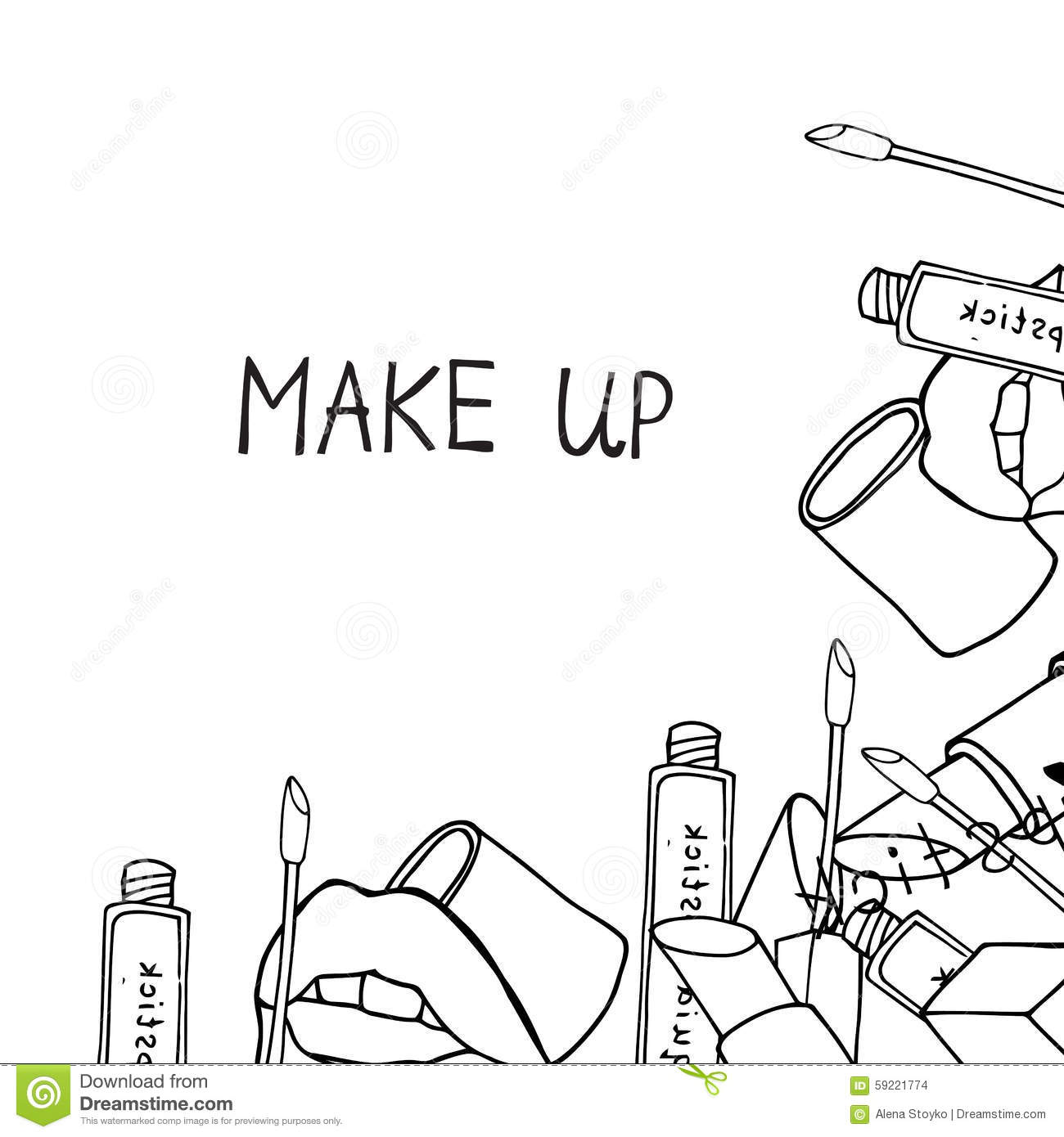 Makeup Products Cosmetics Stock Vector