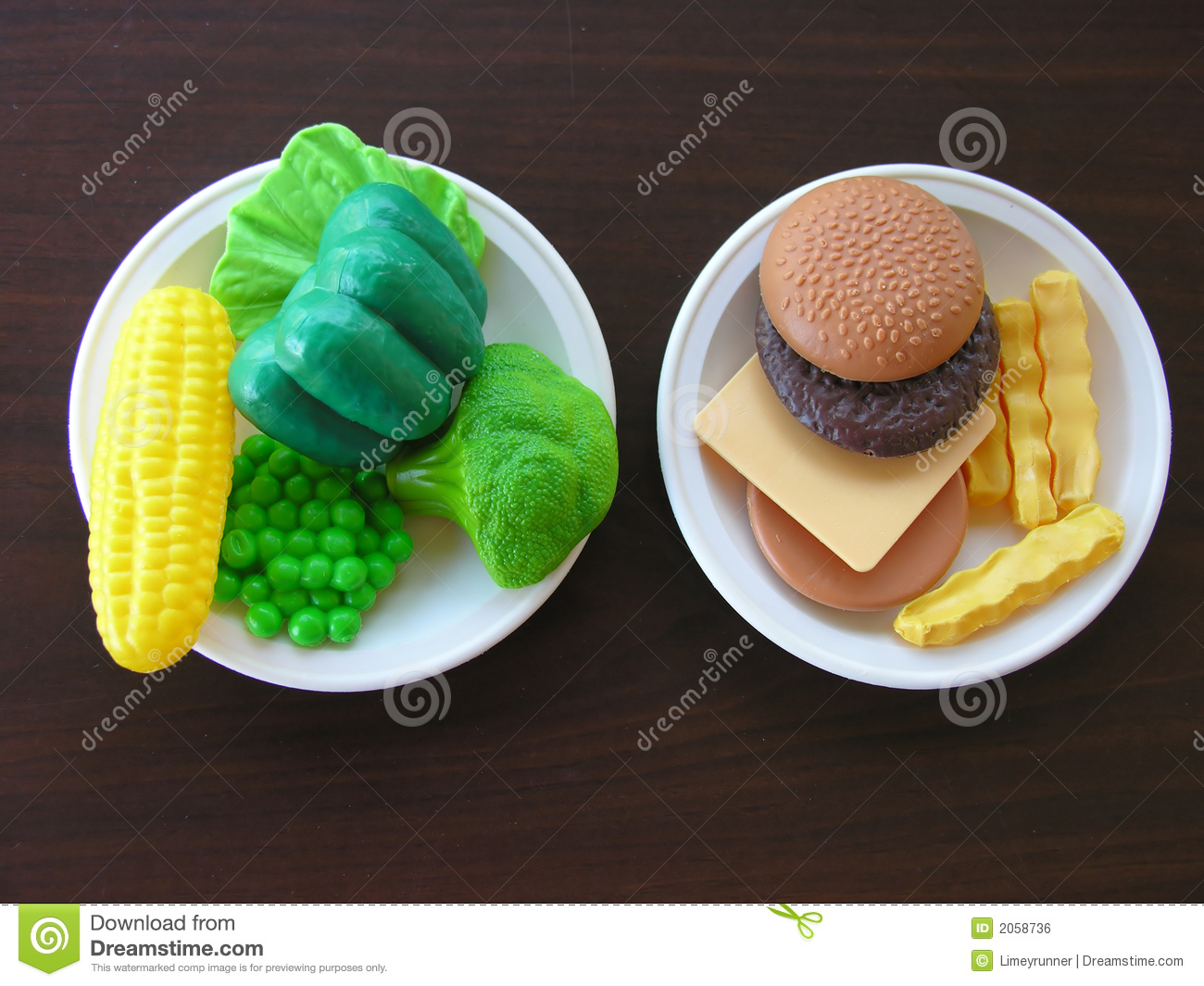 Making Healthy Food Choices Royalty Free Stock Image